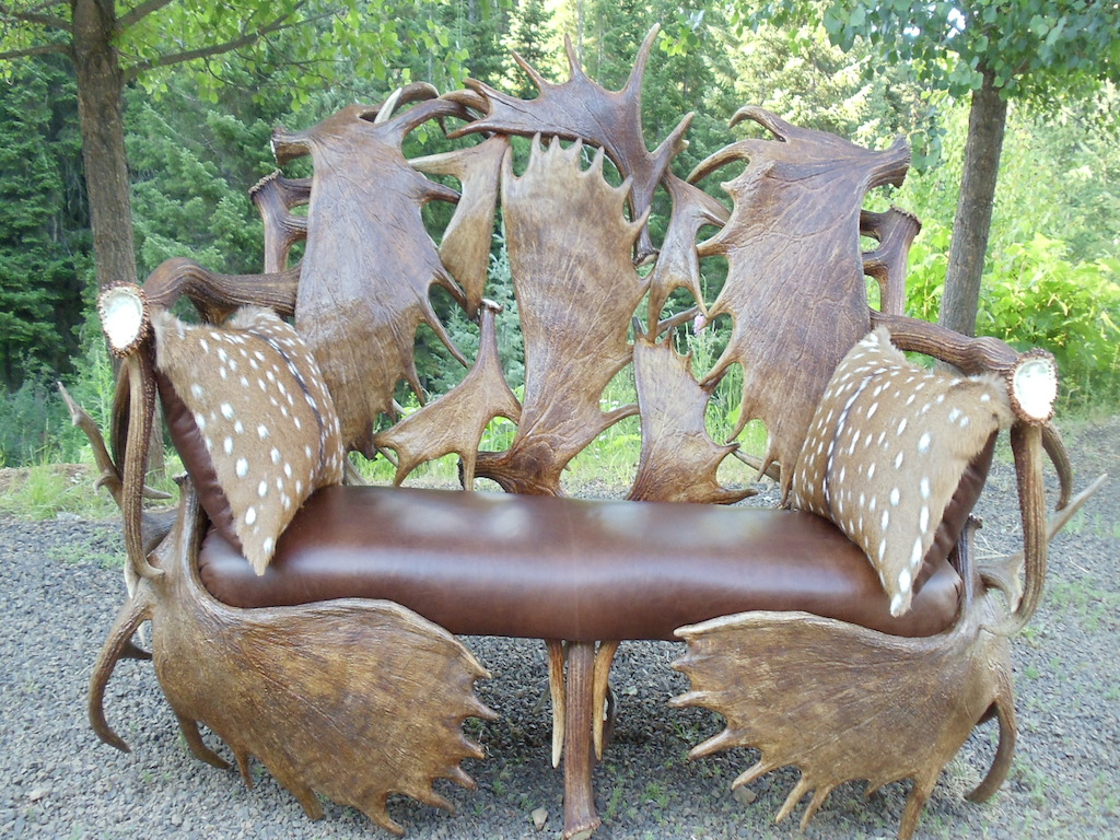 Antler Black Sofa