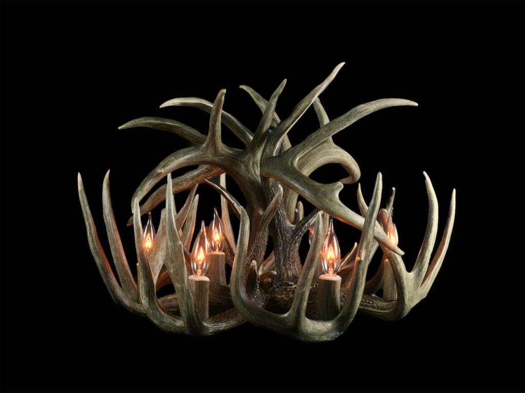 Standard White Tail Chandelier