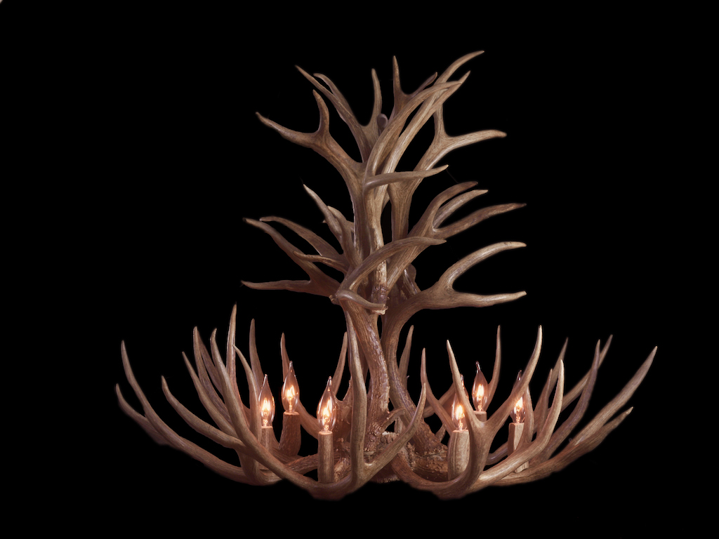 Tall Mule Deer Chandelier