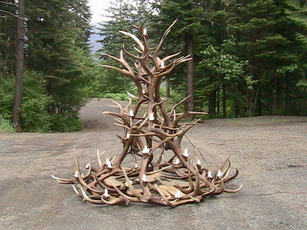 Large Elk Moose Chandelier