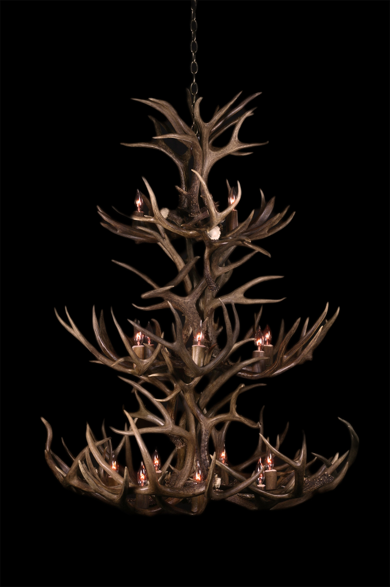 Tripple Tier Mule Deer Chandelier