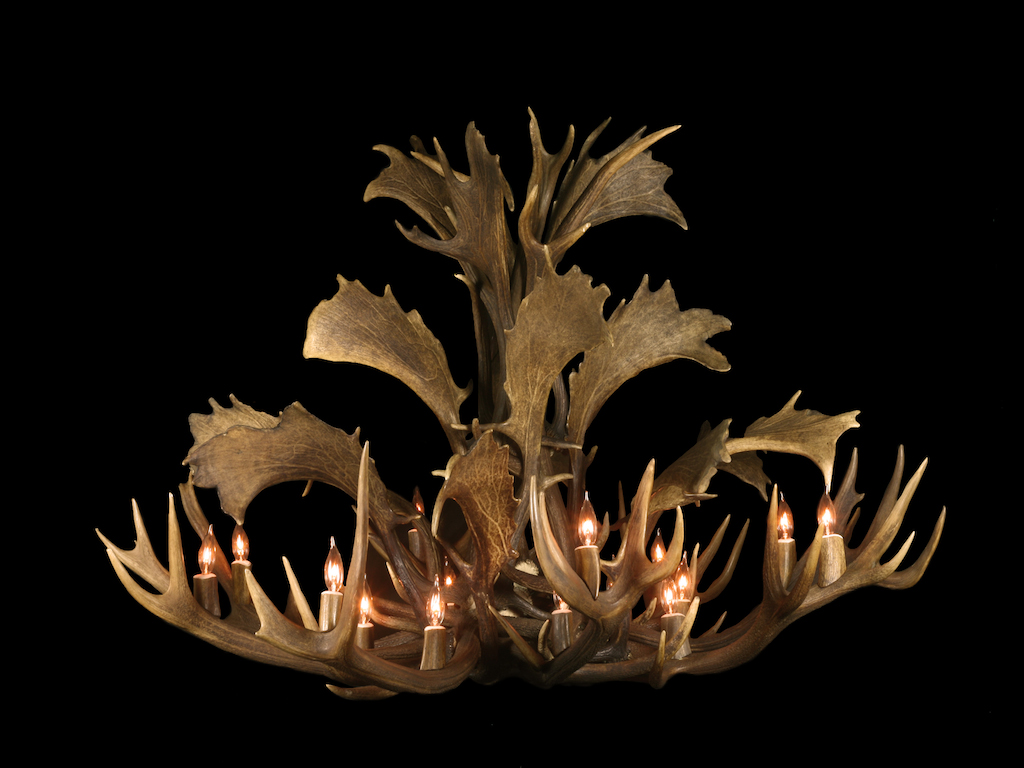 Red Fallow Stag Chandelier