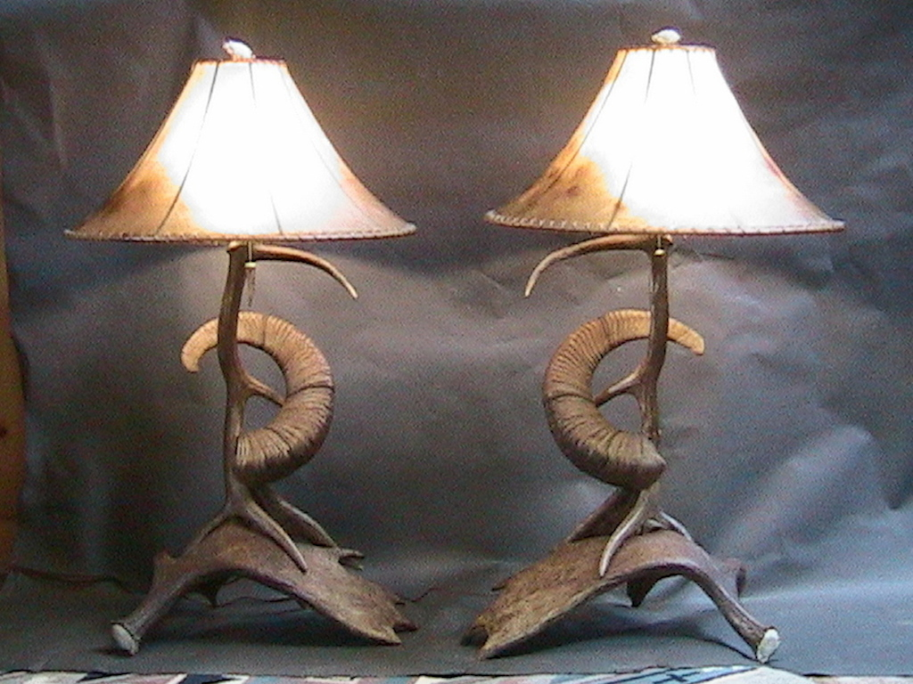 Elk, Moose, Sheep Lamps